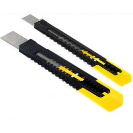 Ножи STANLEY с выдвижным лезвием и видломнимы сегментами 9 и 18 мм (STHT10202-0)