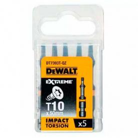 Биты ударные DeWALT IMPACT TORSION Т10, 50, 5 шт (DT7393T)