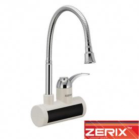 Электрический проточный водонагреватель Zerix ELW 021EFW (с индикатором темп., рефлекторный гусак) от стены 3 кВт