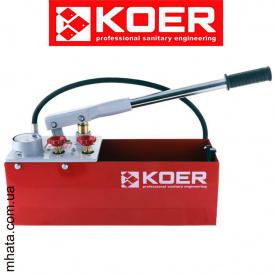 Инструмент опрессовочный ручной KOER KW.100 12л, 60Бар, 8кг, поршень-латунь, 190*530*305