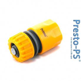 Коннектор 1/2-5/8 для шланга с аквастопом Presto-PS 5810