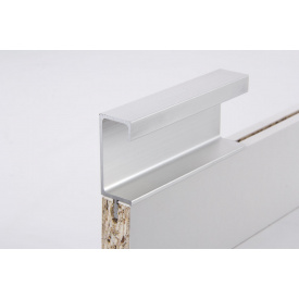 Меблева ручка профільна врізна Н 3 для ДСП 18 мм 5,95 м алюміній Brush
