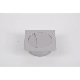 Заглушка під дроти Poliplast квадратна 74x74 в кольорі алюміній