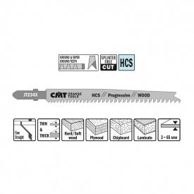 Пильне полотно СМТ для лобзика по м'якій деревині 90 116 відступ 2-3 (комплект 5 шт)