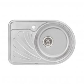 Кухонная мойка Qtap 6744R 0,8 мм Micro Decor (QT6744RMICDEC08)