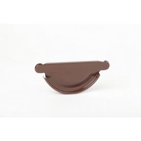 Заглушка желоба Plannja 125 коричневая