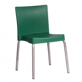 Стілець AMF Корсика метал пластик 52х48х78 см алюм зелений