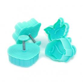 Набор формочек для печенья с поршнем Fissman 4 шт AY-7584-BW