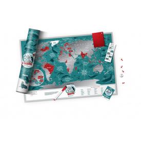 Скретч карта мира Travel Map Marine World