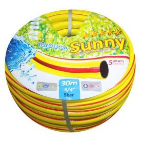 Шланг поливочный Evci Plastik Райдуга Sunny желтый 3/4 дюйма длина 30 м