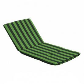 Подушка 48x112 см Dajar Mona Hoch полосатая зеленая