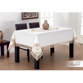 Скатертина Kayaoglu 160x220 см Kuleli біла