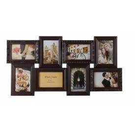 Мультирамка для фото Angel Gifts 8 в 1 коричнева (BIN-112183)