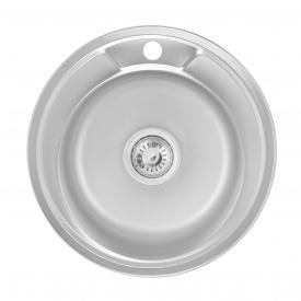 Кухонная мойка Lidz 490-A 0,6 мм Satin (LIDZ490A06SAT160)
