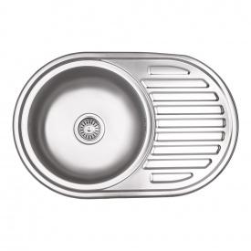 Кухонная мойка Lidz 7750 0,8 мм Micro Decor (LIDZ7750MDEC)