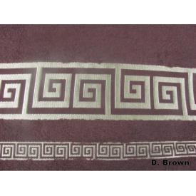 Простирадло Arya в коробці Бамбук Жаккард 200x220 см Grek темно-коричнева