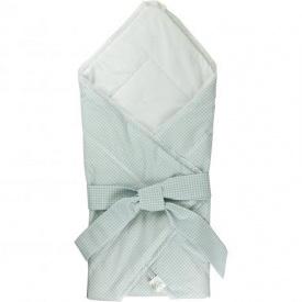 Одеяло-конверт для новорожденных Руно хлопок 75х75 см голубой