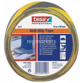 Лента против скольжения черно-желтая 15 м 50 мм Tesa