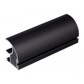 Вертикальный открытый профильс пазом под щетку Slider Expert мм 5200 черный матовый