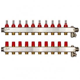 Коллектор Danfoss SSM-F на 10 контуров с ротаметрами (088U0760)