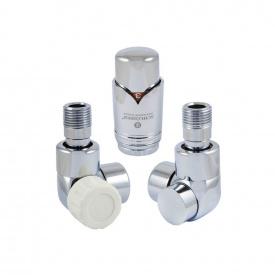 Комплект термостатический осевой левый Schlosser LUX для медной трубы GZ 1/2 х 15х1 хром (603700006)