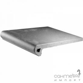 Клинкерная плитка ступень 33x33 Gres de Aragon Cotto Peldano Ref. 24-33 Gris серая