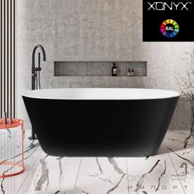 Отдельностоящая ванна из литого камня Balteco Nido 170 белая внутри/Black RAL 9005