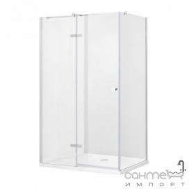 Прямокутна душова кабіна Besco Pixa L 100x80x195 прозоре скло лівостороння