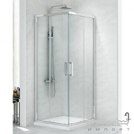 Прямокутна душова кабіна New Trendy New Praktic K-0490 профіль хром / скло прозоре