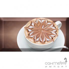 Плитка керамическая декор Absolut Keramika Coffe Capuccino Decor Marron B 10x20
