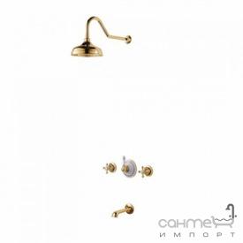 Змішувач для ванни з душем вбудовані Kraus Apollo KEF-16054 G золото