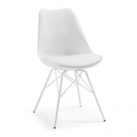 Стул дизайнерский SDM Тау пластиковый металлический подушка Белый (hub_ffEt98183)