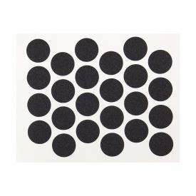 Заглушка минификса самоклеющаяся Weiss d=20 черный 24 шт 2110