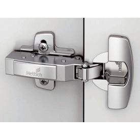 Петля накладная с доводчиком для двери толщиной до 32 Clip-on Hettich Sensys d=35 никель 9.090.260