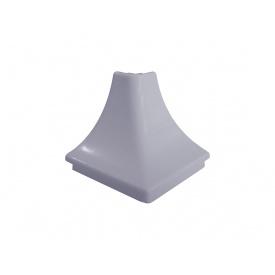 Угол к плинтусу кухонному Linken System треугольный алюминий гладкий вогнутый внешний