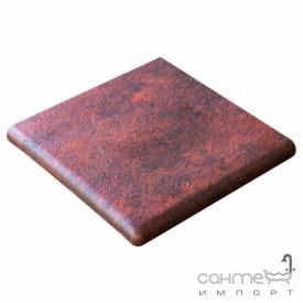 Клинкерная плитка угловая ступень 33x33 Gres de Aragon Jasper Esquina Rojo красная