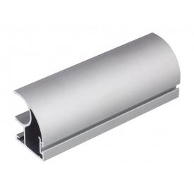 Вертикальный открытый профильс пазом под щетку Slider Expert мм 5200 серебро