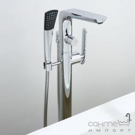 Смеситель для ванны напольный с лейкой Blue Water (Art Platino) Emira EMI-BWP 090C хром
