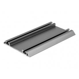 Направляющий профиль нижний Slider усиленный графит мм 5000