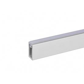 Штанга прямоугольная со вставкой гардеробная с креплением Volpato Stili мм 1200 алюминий