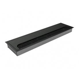 Пропуск для кабелю врізний Virno Lines 80/300 чорний
