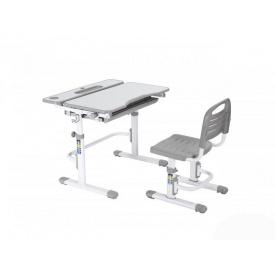 Ергономічний комплект парта і стілець-трансформери Botero Grey