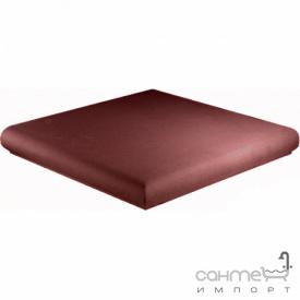 Клинкерная плитка угловая ступень 33x33 Gres de Aragon Cotto Esquina Rojo красная