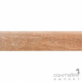 Клинкерная плитка плинтус 8x33 Gres de Aragon Columbia Rodapie Salmon красная