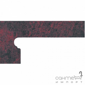 Клинкерная плитка боковина левая 20x39 Gres de Aragon Jasper Zanquin left Rojo красная