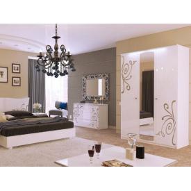 Спальний гарнітур Богема білий глянець