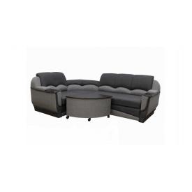Угловой диван Garnitur.plus Мадрид серый 250 см (DP-349)