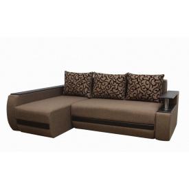 Угловой диван Garnitur.plus Граф коричневый 245 см (DP-207)