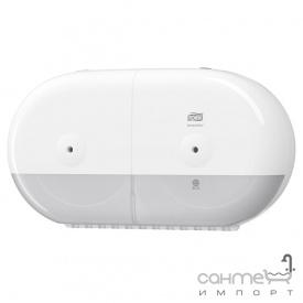 Диспенсер для туалетного паперу подвійний Tork SmartOne 682000 білий пластик