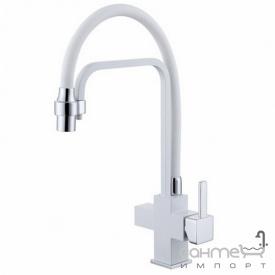 Смеситель для кухни с изливом для фильтрованой воды Fabiano FKM 31.11 Alpine White 02 8231.403.0856 белый
